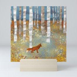 Autumn Fox Mini Art Print