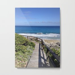Boardwalk to the Sea Metal Print