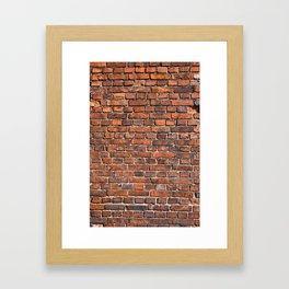 Texture - Brick wall Framed Art Print