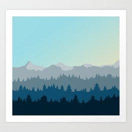 Face This Mountain (No Text) Art Print