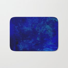 Blue Night- Abstract digital Art Bath Mat