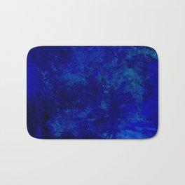Blue Night- Abstract digital Art Bath Mat