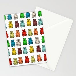 Cute Gummy Bear Candy Collage Stationery Cards