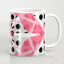 Pink Grey Black Symmetry Coffee Mug