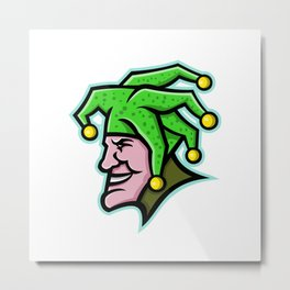 Harlequin Head Side Mascot Metal Print