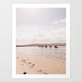 Horseback on the Beach Art Print