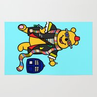 pooh Area & Throw Rugs featuring Doctor Who - Doctor Pooh by Scurpix Art