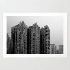 concrete blocks Art Print
