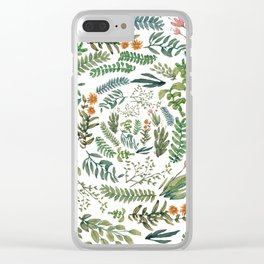 water color rotation garden Clear iPhone Case