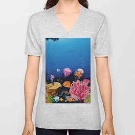 Beautiful Coral Reef Animals Unisex V-Neck