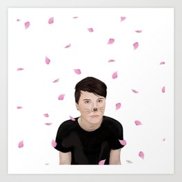 Cherry Blossom Dan Howell (danisnotonfire) Art Print
