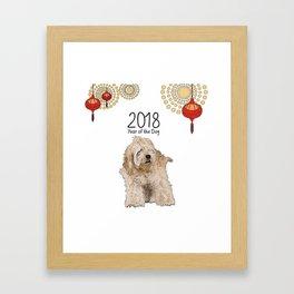 Year of the Dog - Shaggy Framed Art Print