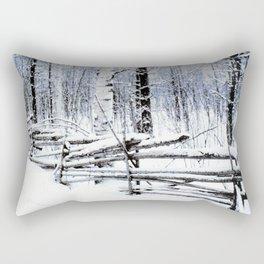 Old Fence Rectangular Pillow