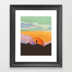 I Like to Watch the Sun Come Up Framed Art Print