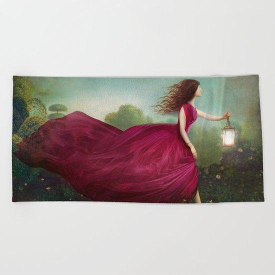 The Rose Garden Beach Towel