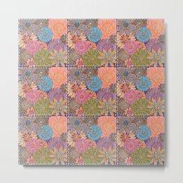 Flower Garden Quilt Metal Print