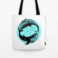 Having Fun Color (Whales) Tote Bag