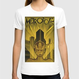 "Vintage 1927 ""Metropolis"" Movie Lithograph Advertisement Poster T-shirt"