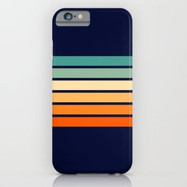 Marynda - Classic Colorful 70s Vintage Style Retro Summer Stripes iPhone Case