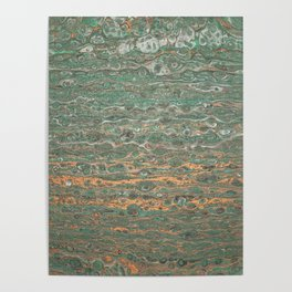 fluid coppered teal Poster