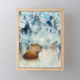 Capybara Springs Framed Mini Art Print