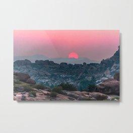 Otherworldly sunrise of Hampi, India Metal Print