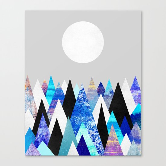 Blue Peaks / Version 2 Canvas Print