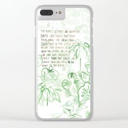 """""""Conquest of the Useless"""" by Werner Herzog Print (v. 3) Clear iPhone Case"""