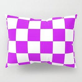 Cheerful Purple Checkerboard Pattern Pillow Sham
