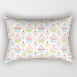 Pastel Cupcakes Food Vector Pattern Rectangular Pillow