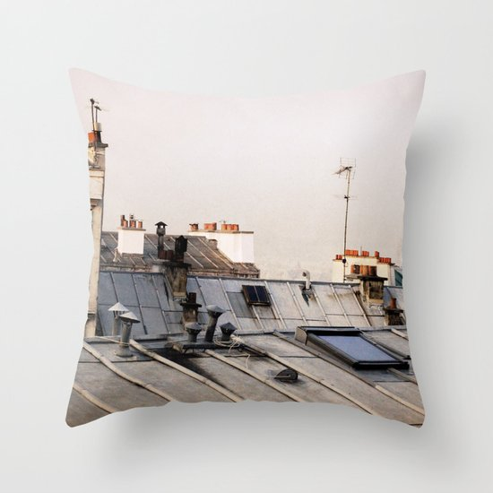 Paris Rooftop #1 Throw Pillow