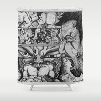 sin city Shower Curtains featuring Sin by Cifertherhyme