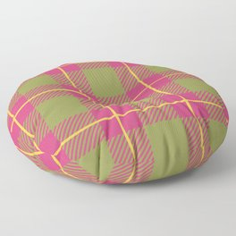 Spring Plaid - Green and Pink Floor Pillow