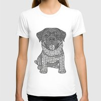rottweiler T-shirts featuring Courageous- Rottweiler by DiAnne Ferrer