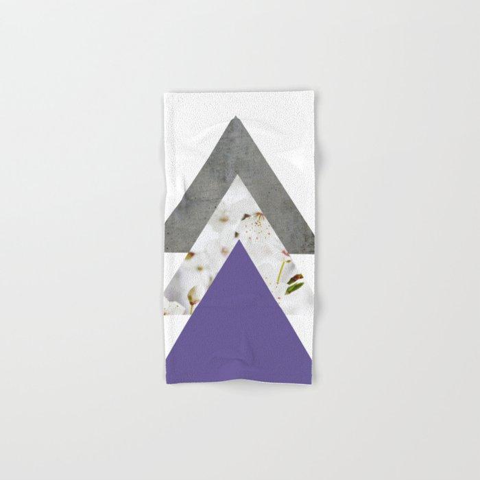 Ultra Violet Blossoms Arrows Hand & Bath Towel