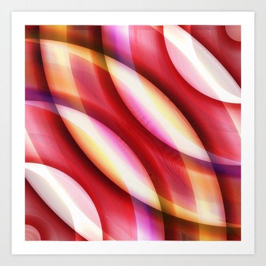 Pattern red Art Print