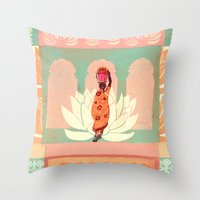 india Throw Pillows featuring india by Faye Suzannah