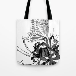 Spider Lily and Butterfly II (mirrored & inverse colour version) Tote Bag