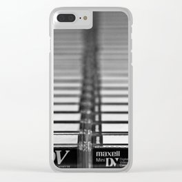 Tapes III Clear iPhone Case
