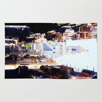cuba Area & Throw Rugs featuring Old Downtown Havana Cuba by Rafael Salazar