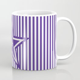 The Greatest Star - Purple Stripes Coffee Mug