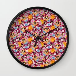 Poppie In Pink Wall Clock