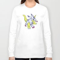 digimon Long Sleeve T-shirts featuring Gabumon by Jelecy