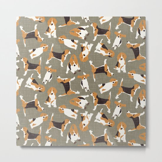 beagle scatter stone Metal Print