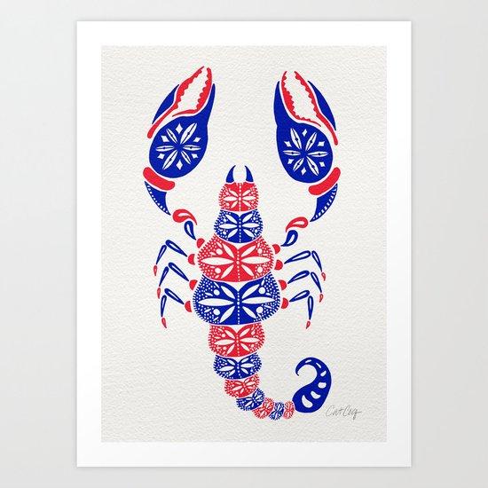 Patriotic Scorpion Art Print