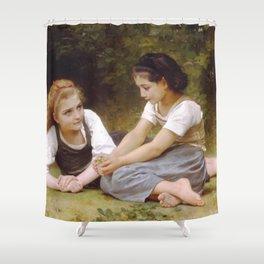 William-Adolphe Bouguereau - The Nut Gatherers Shower Curtain