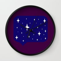 sayings Wall Clocks featuring Star Sayings by Mantha