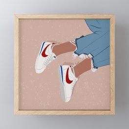 Uptown x Cortez Sneakers Framed Mini Art Print
