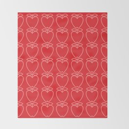 MCM Apple Red Throw Blanket
