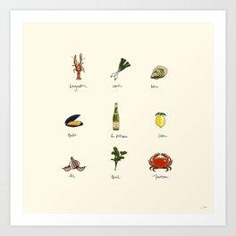 Summer kitchen Art Print
